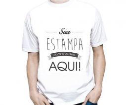 Camiseta Masculina Personalizada Estampa Grande (A3)