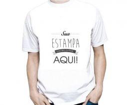 Camiseta Masculina Personalizada Estampa Média (A4)
