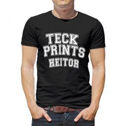 Camiseta Masculina Personalizada Preta Estampa Frente Grande (A3)