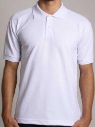 Camiseta Polo Branca - Malha Piquet - P