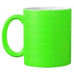 Caneca de Cerâmica  Neon Verde - 325 ml  - Fosflorecente