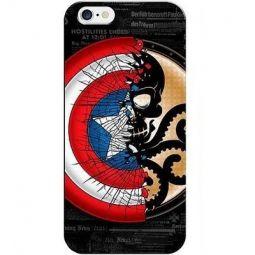 Capa De Celular Iphone (Todos Modelos) Capitão América X Hidra