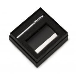 Conjunto Caneta 3 Em 1 Com Porta Cartão