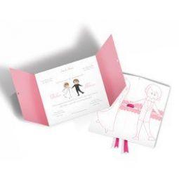 Convite Casamento - 100 unid - Moderno 05