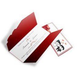 Convite Casamento - 100 unid - Romântico 08