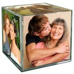 Cubo Em Acrílico Personalizado Com 6 Fotos