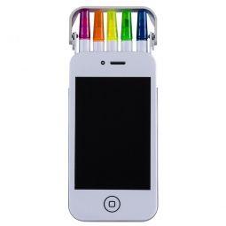 Kit Com Canetas Marca Texto Form. Smartphone
