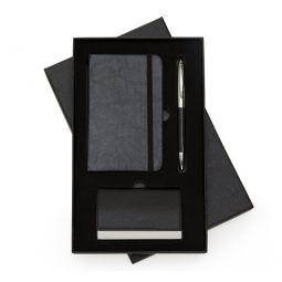 Kit Executivo Com Caneta E Moleskine + Porta Cartão