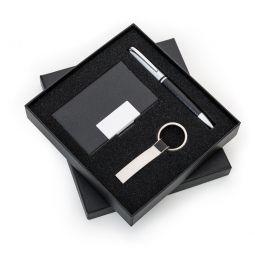 Kit Executivo Porta Cartão Chaveiro, Caneta Pre