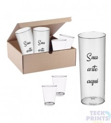 Kit Festa - 50 Copos Long Drink Personalizados + 30 Copos Shot Tequila