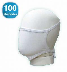 Máscara de Proteção Convencional Branca- - 100 -Unidades