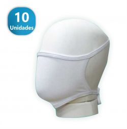 Máscara de Proteção Convencional Branca- - 10 Unidades