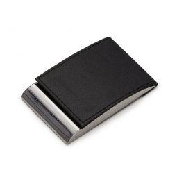 Porta Cartão De Couro Com Detalhe Em Metal