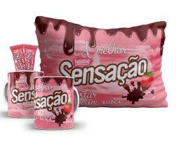 SENSAÇÃO - Kit pascoa - CANECA + ALMOFADA + CHOCOLATE