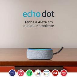 Smart Speaker Amazon Echo Dot 3ª Geração - Alexa Caixa de Som