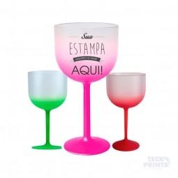 Taça De Gin Tônica Acrílico Bicolor Fosco
