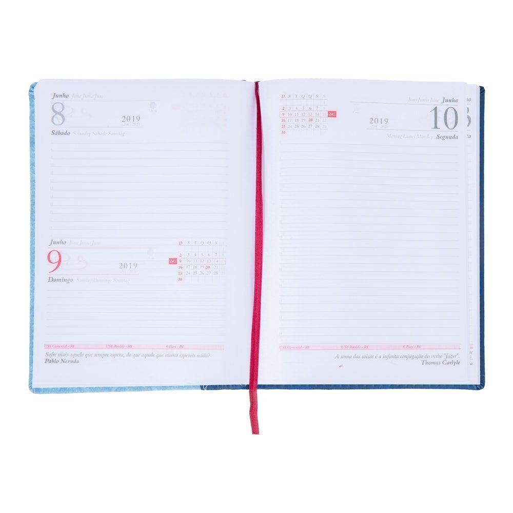 Agenda Couro Sintetico 20 x 14,5 cm