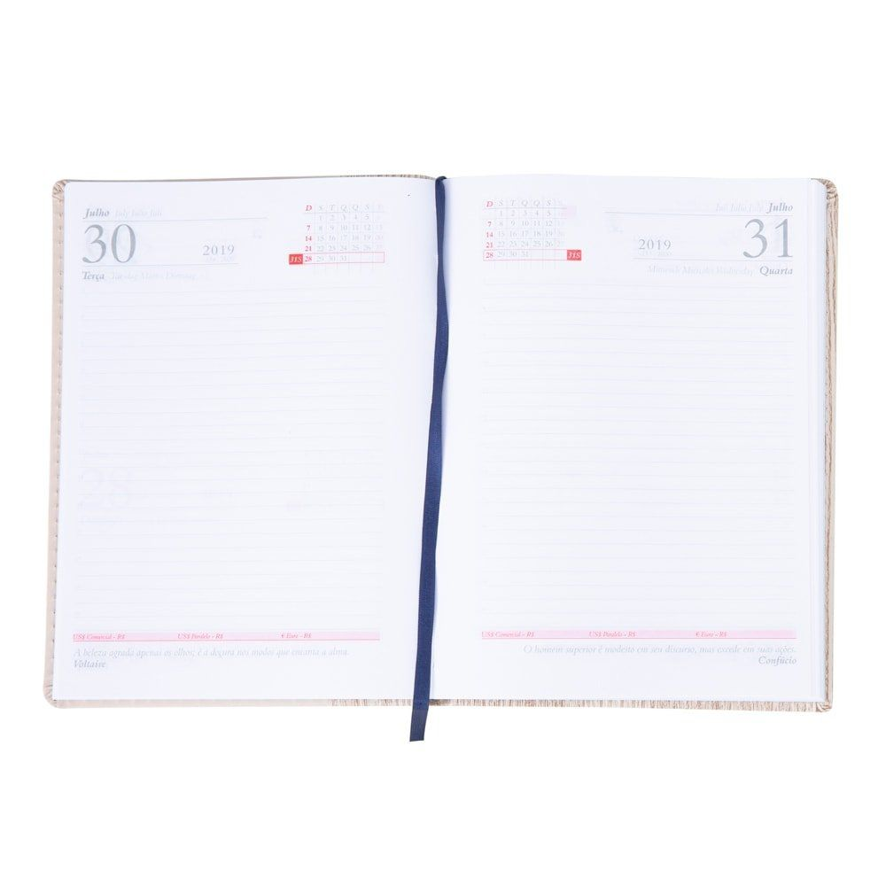 Agenda Couro Sintetico Com Cortiça 20,2 x 14,9 cm