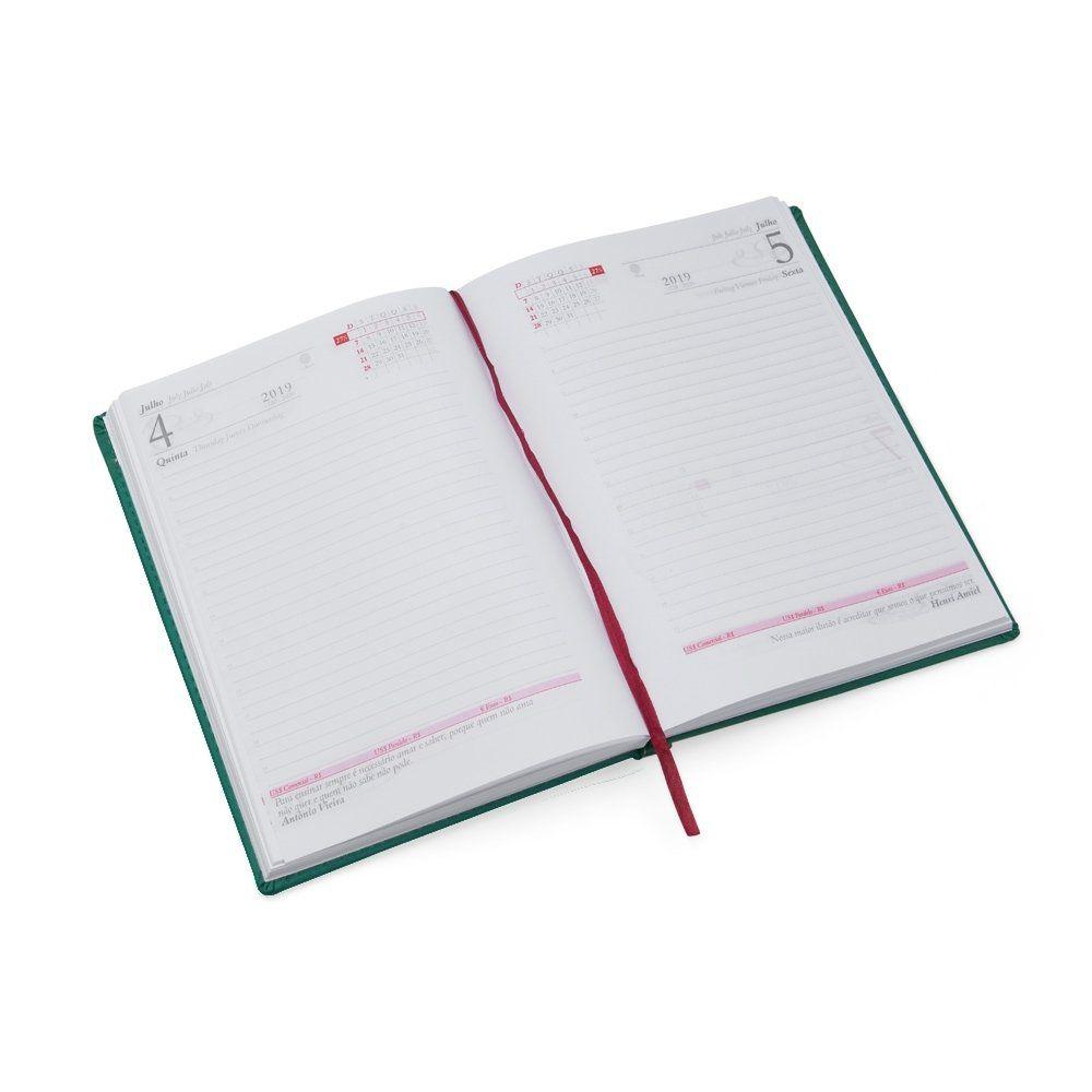 Agenda Couro Sintetico Metalico 20,3 x 14,9 cm