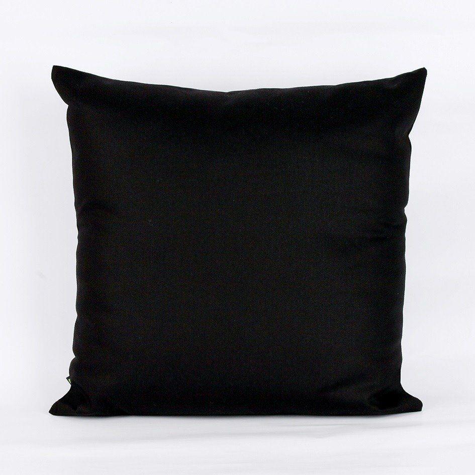 Almofada 45x45cm com enchimento - preta