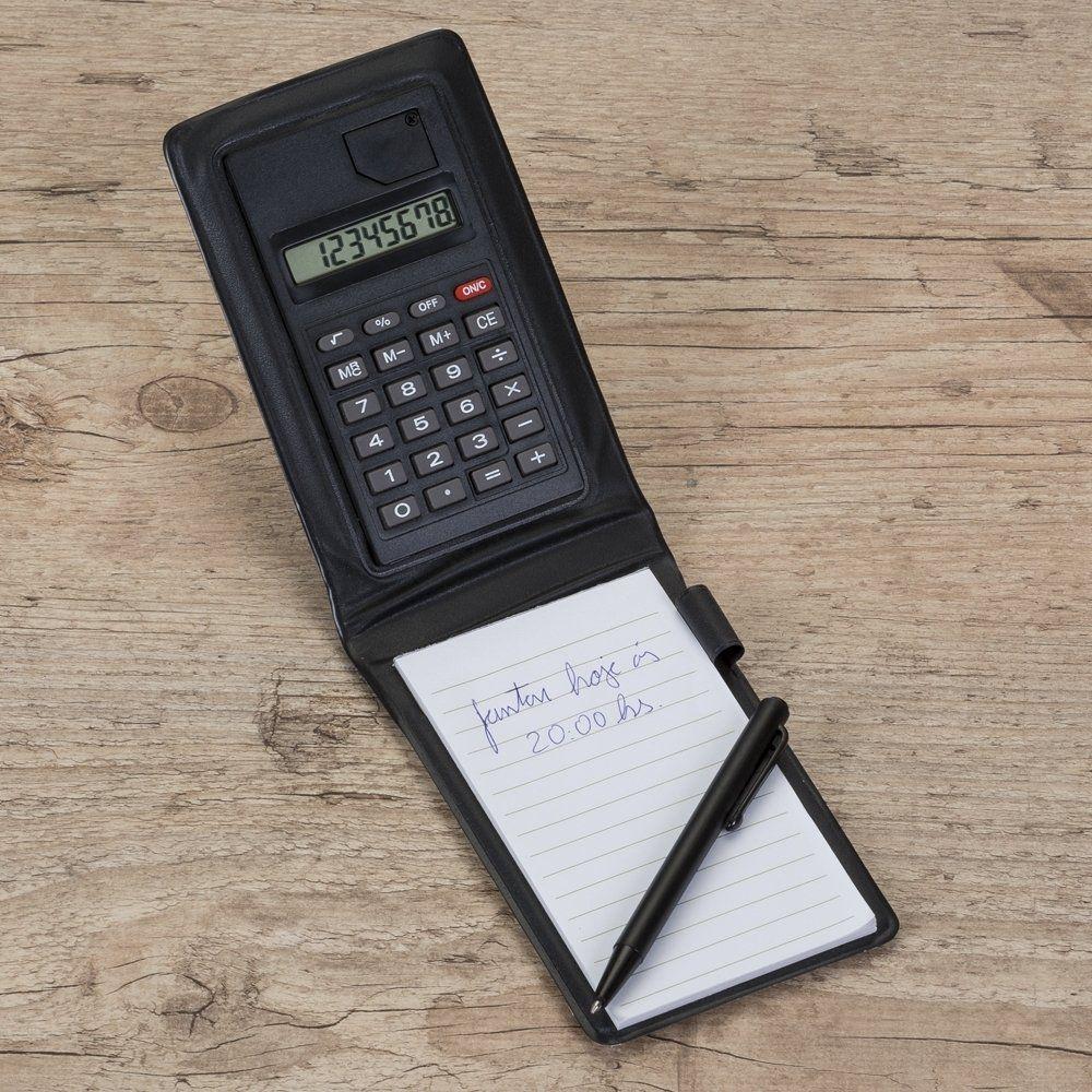 Bloco De Anotações Com Calculadora Com Caneta