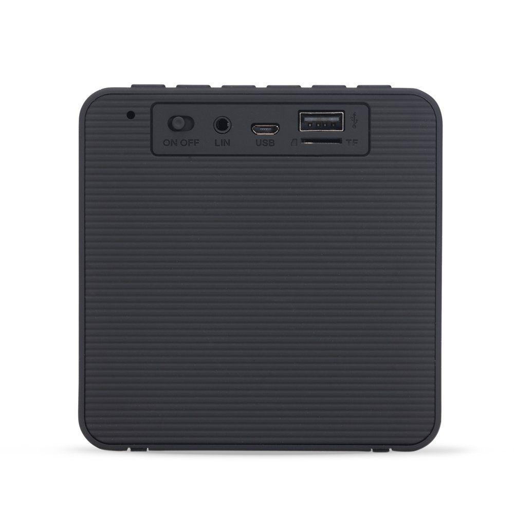 Caixinha De Som Bluetooth Com Relógio Digital