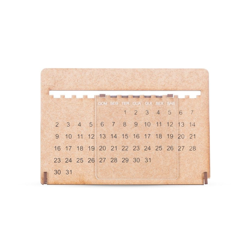 Calendario Permanente Mdf/Acrilico