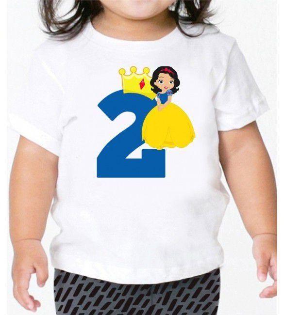 Camiseta Infantil Da Branca De Neve