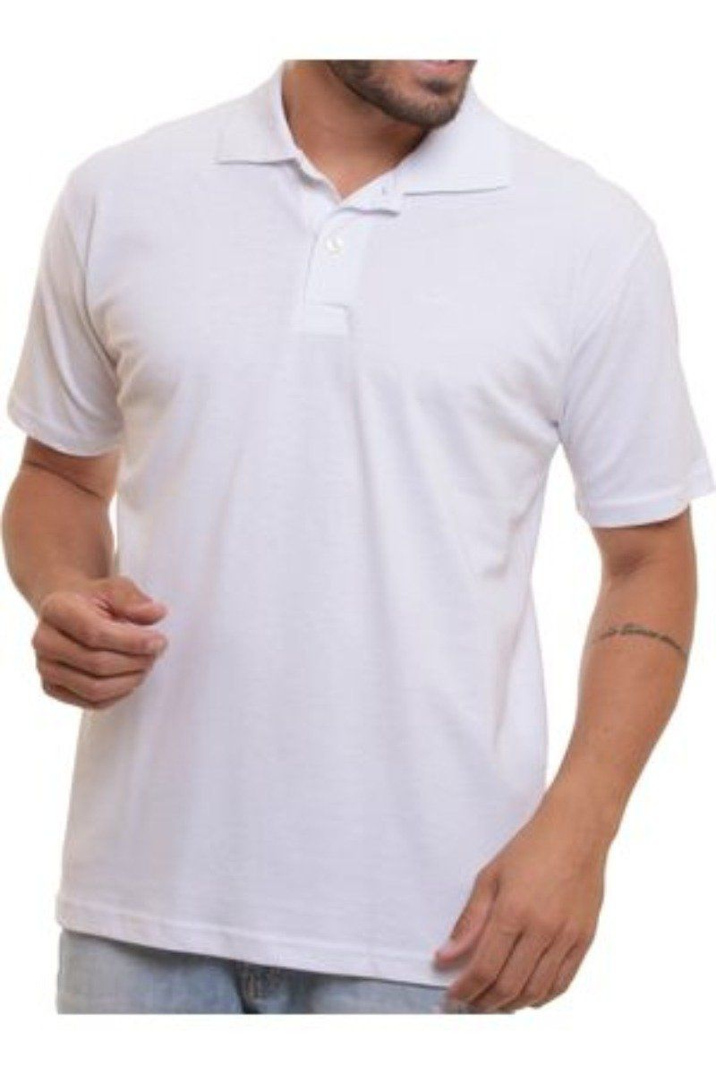 Camiseta Polo - Branca P Personalizada