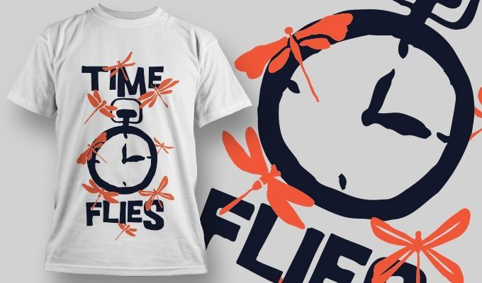 Camiseta Time Flies