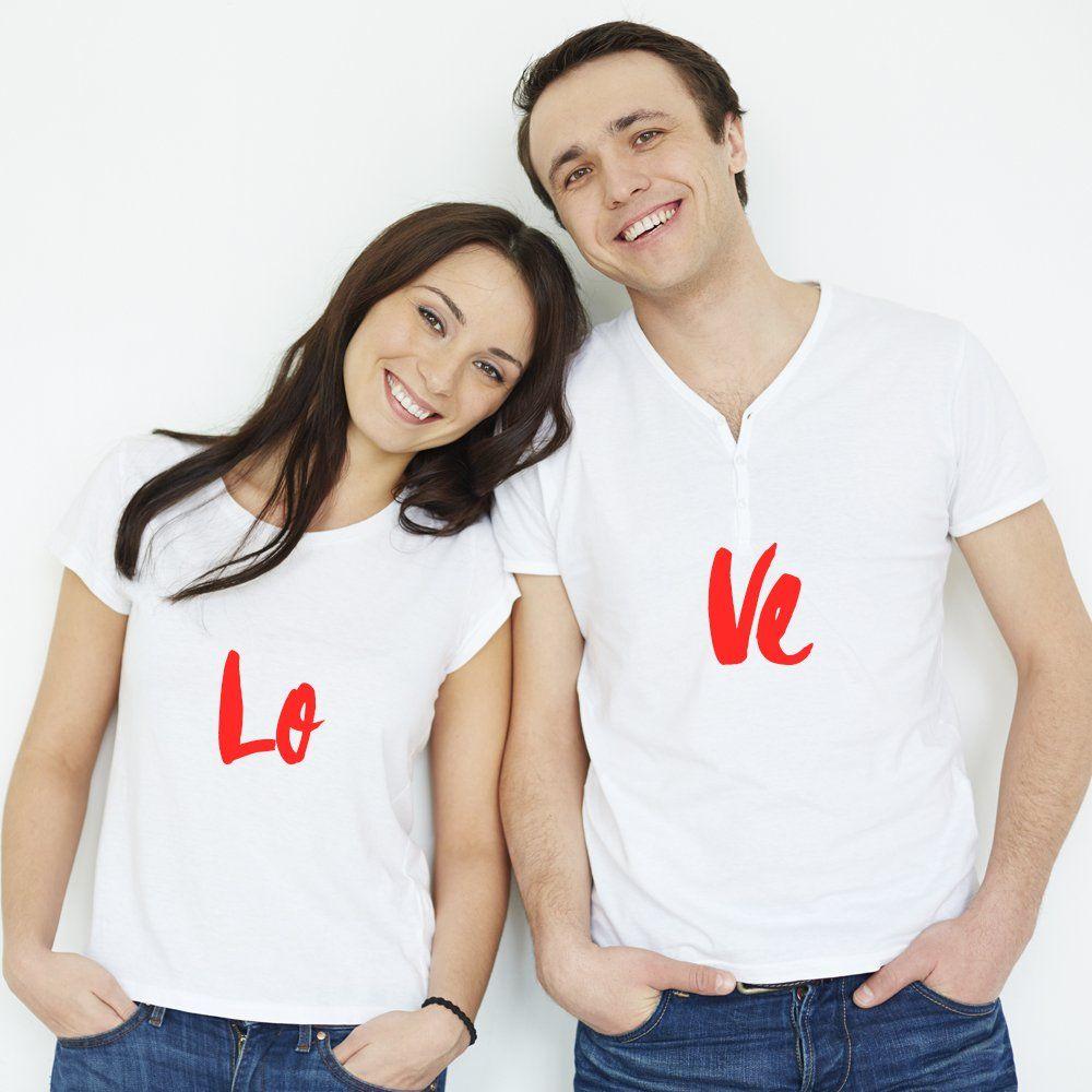 Camisetas Namorados Branca