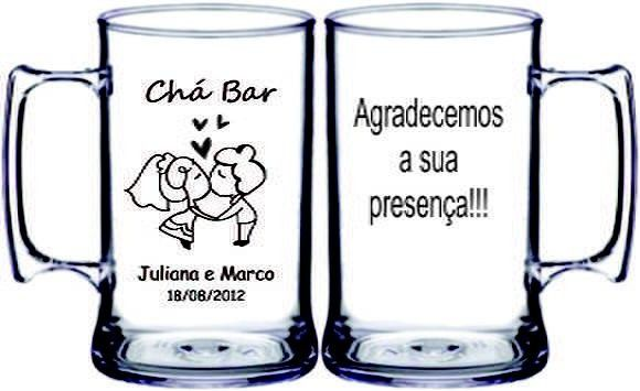 Caneca de Acrílico Personalizado para Chá Bar
