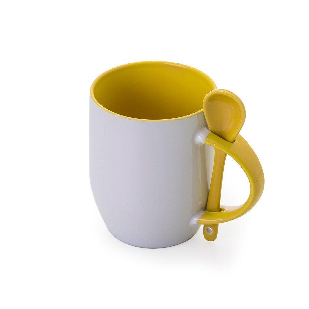Caneca De Ceramica Com Colher