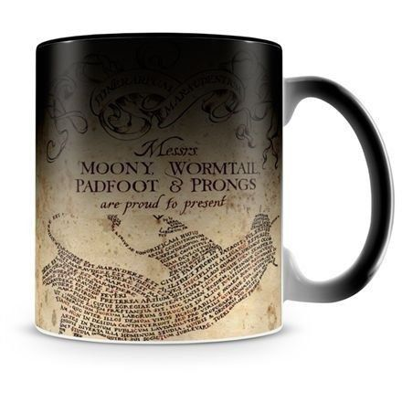 Caneca Mágica Harry Potter O Mapa Do Maroto