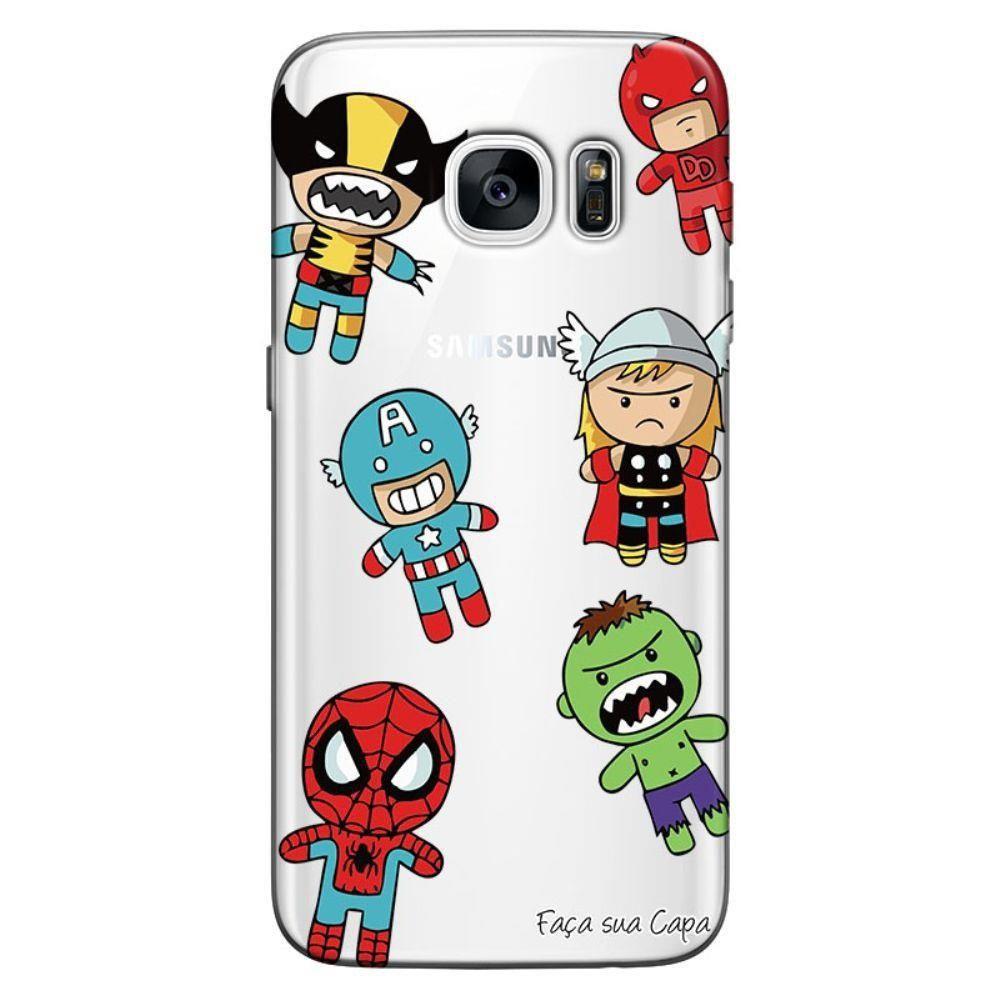 Capa De Celular Samsung (Todos Os Modelos) Super Heróis