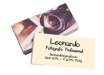1000 Cartões de Visitas - 48x88mm - Couche Brilho 250g - 4x4 - Verniz Total Brilho Frente e Verso Refile