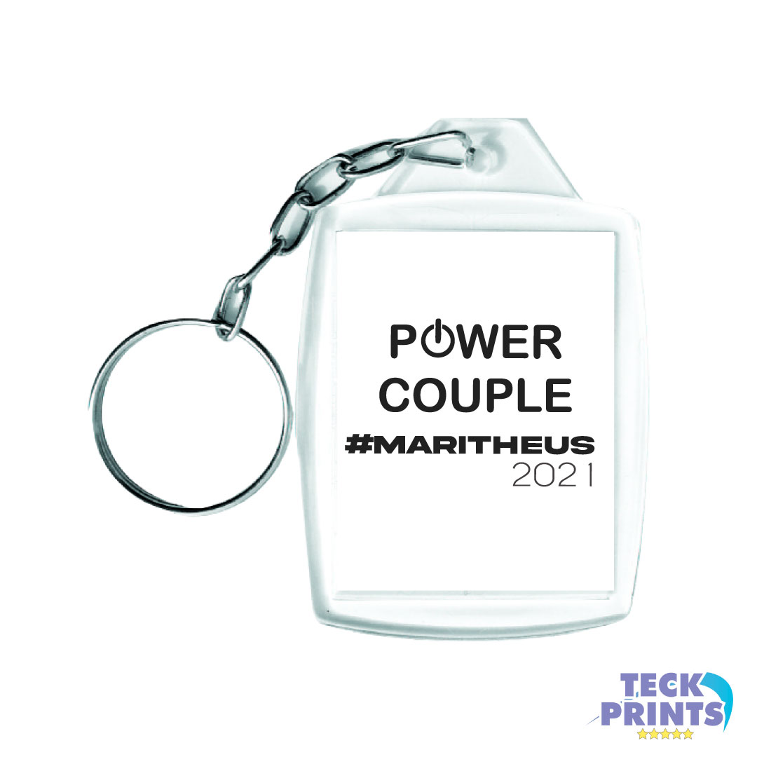 Chaveiro de Acrílico Personalizado 3x4cm - #MARITHEUS