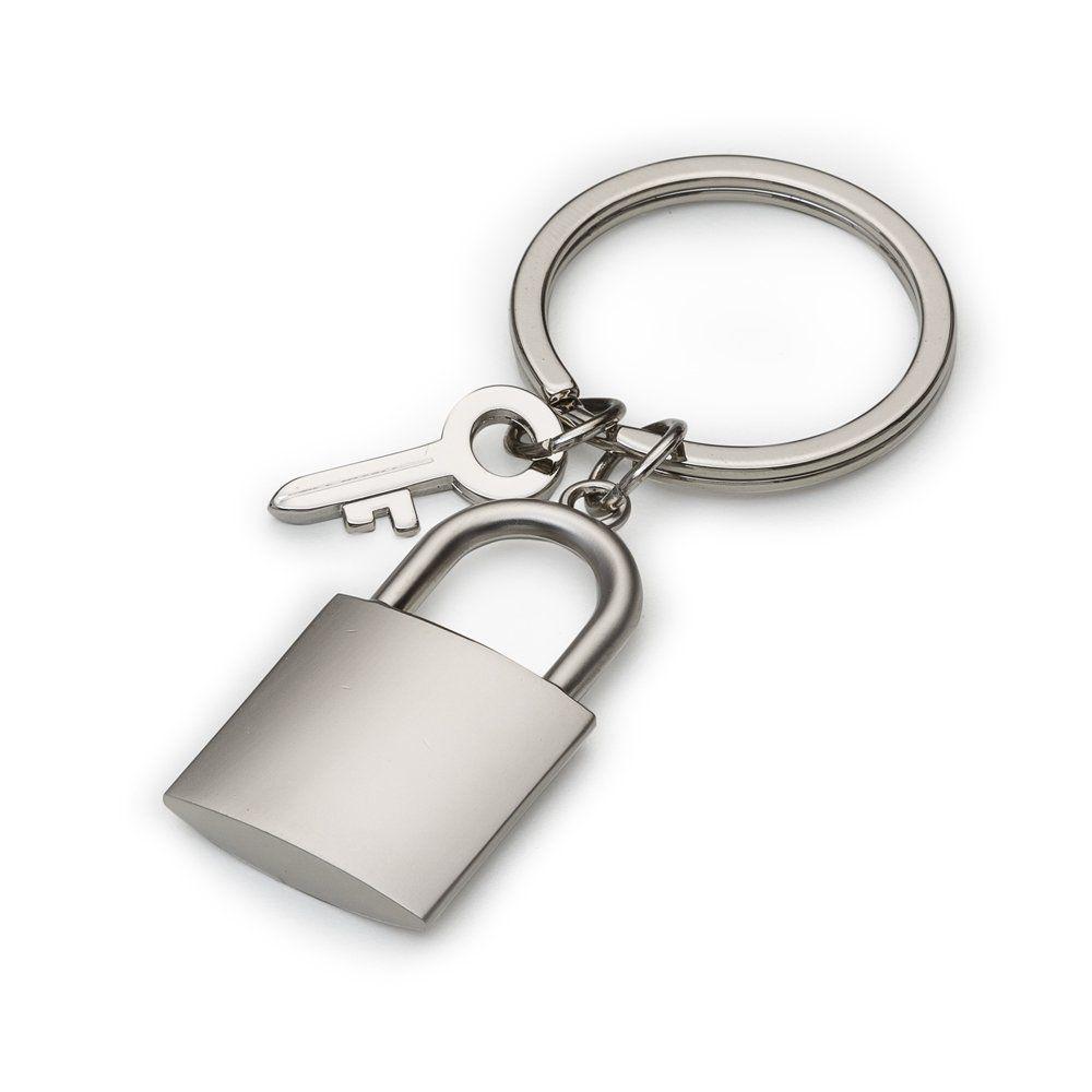 Chaveiro Metal Formato Cadeado Fosco