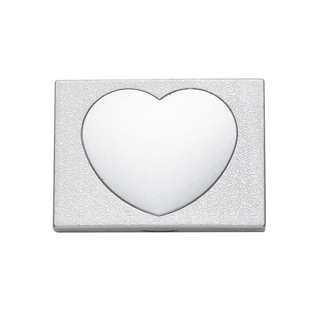Espelho De Bolso Duplo Coração