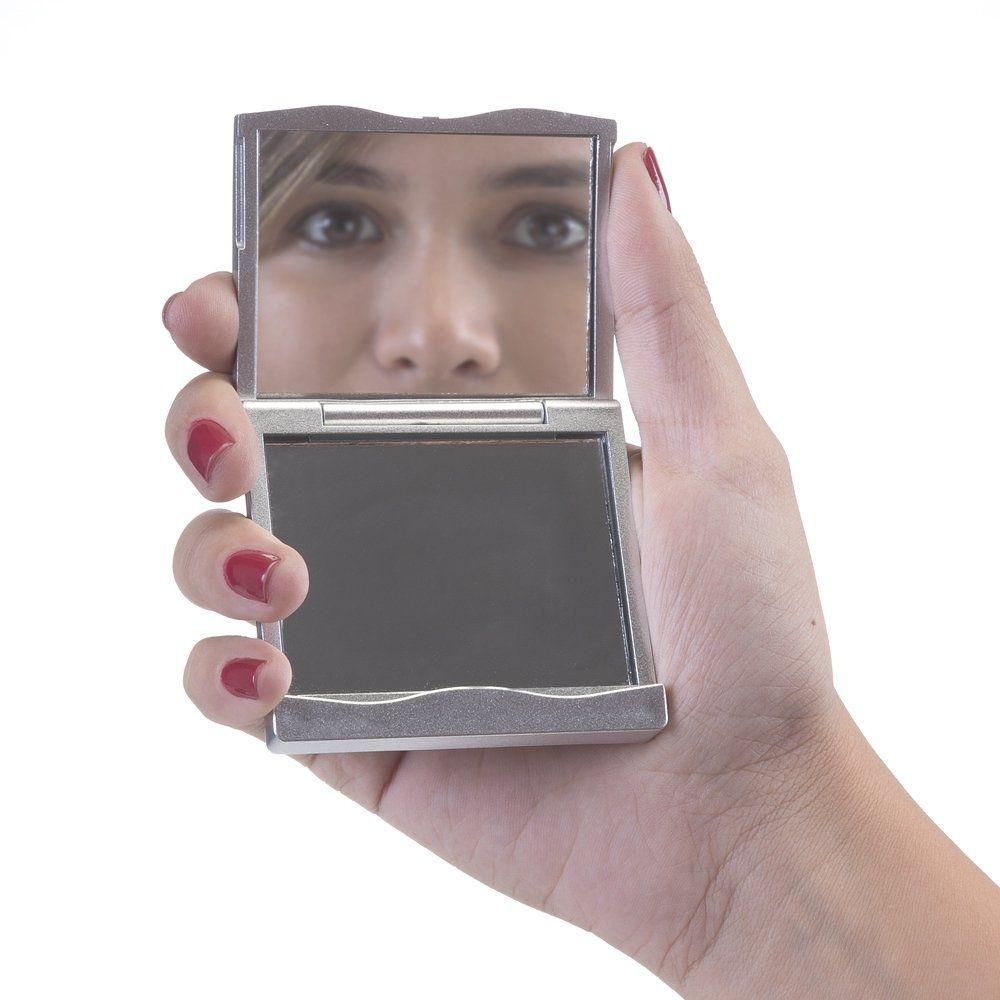 Espelho Plástico Quadrado Sem Aumento