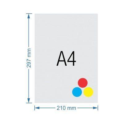 Impressão A4 Couchê Color - 210g