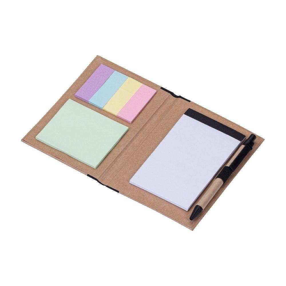 Kit Calculadora Solar + Caneta E Bloquinho E Post It