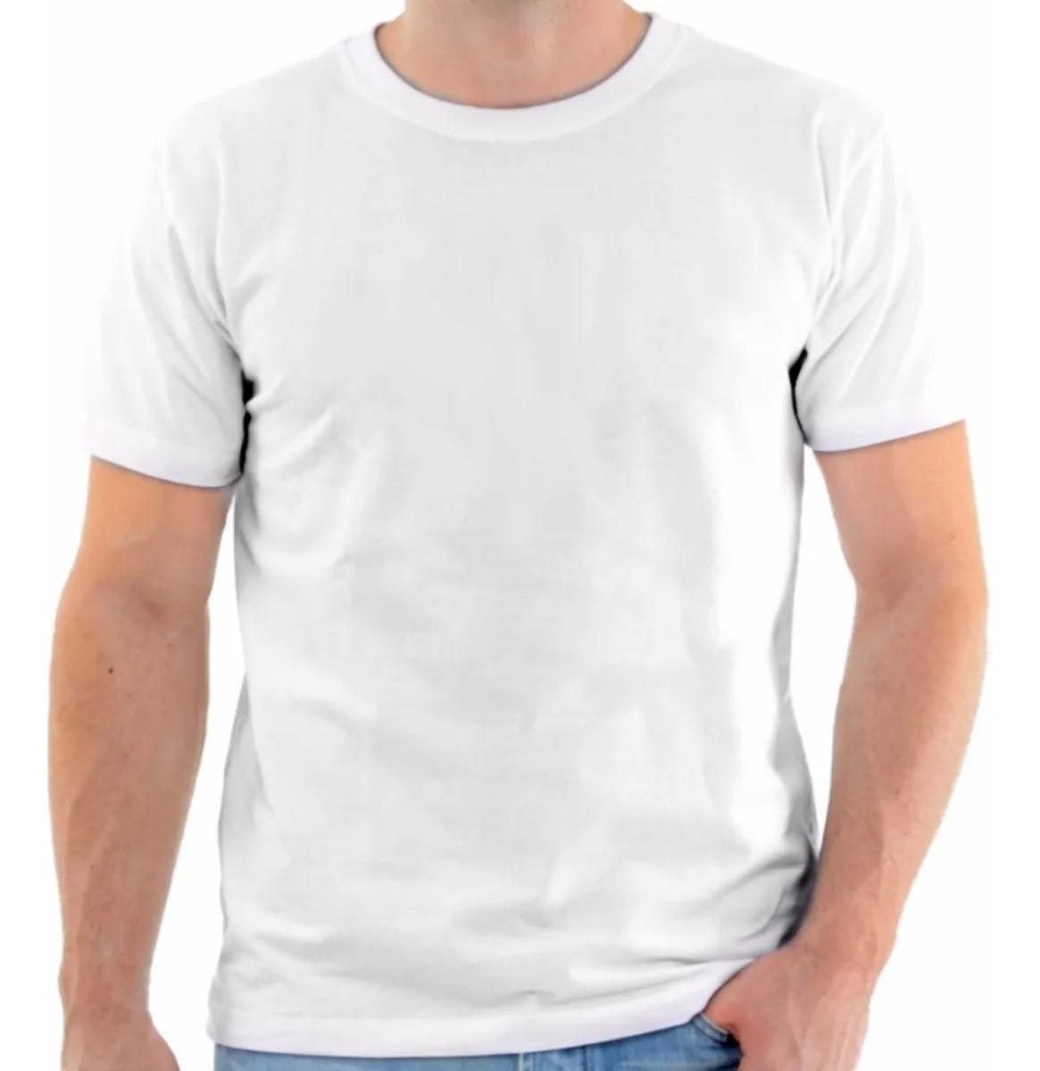 Kit Com 50 Camisetas Brancas Ideal para Sublimação 100% Poliéster
