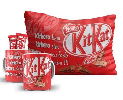 KIT KAT - Kit pascoa - CANECA + ALMOFADA + CHOCOLATE