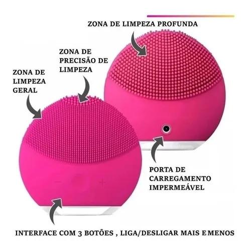 Massageador e Limpador Facial Elétrico Resistente a Água