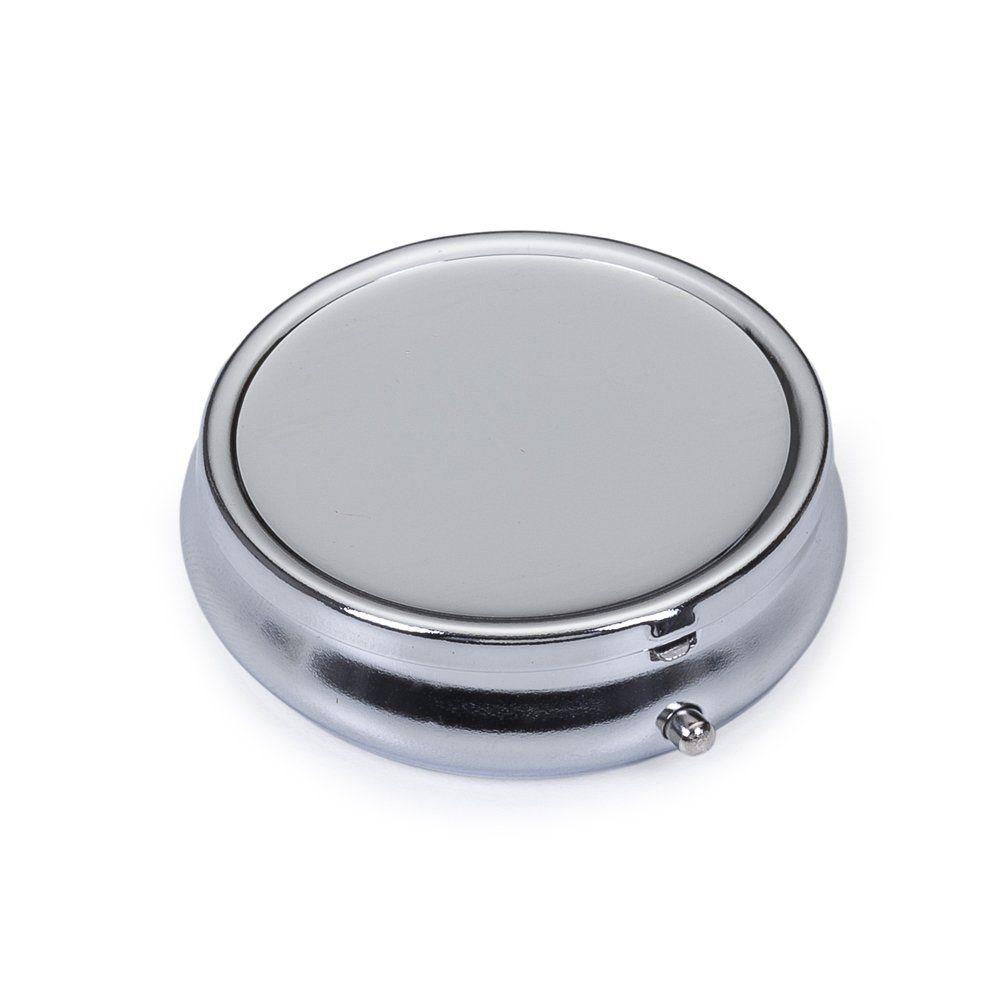 Porta-Comprimidos De Metal Com 3 Divisorias