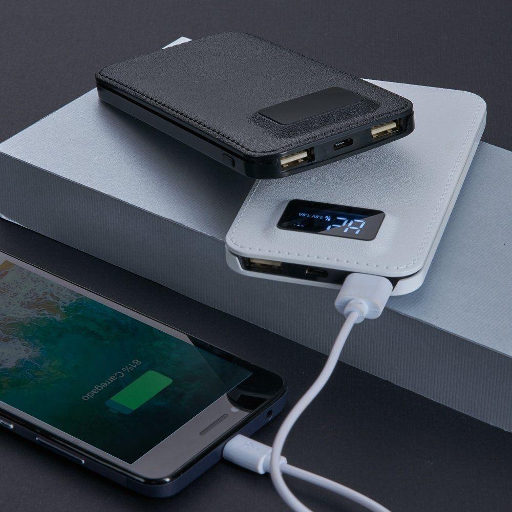 Power Bank Plástico com Visor Digital