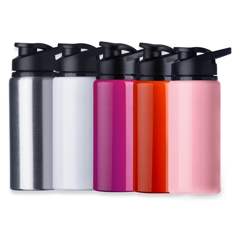 Garrafas Squeeze de Alumínio Brilhante  - Capacidade de 600ml