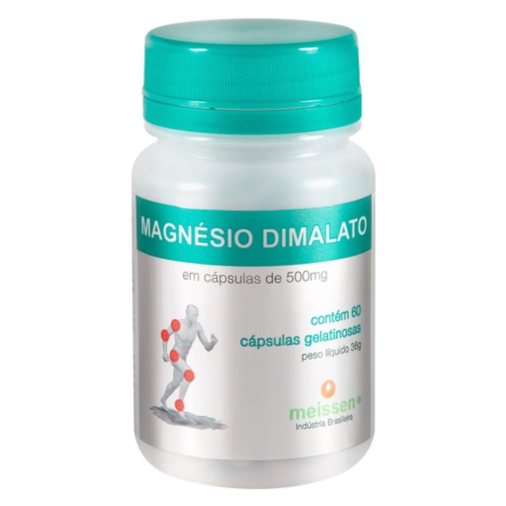 10x Magnesio Dimalato  Puro - 600 Capsulas - 2 Cáps x Dia - Meissen