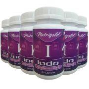 6 x Iodo inorgânico - Lugol em Cápsulas 60 Caps 650 mg